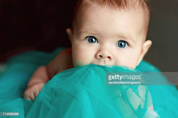 Alert baby with tutu
