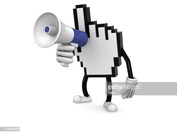 alert - megaphone icon stock photos and pictures