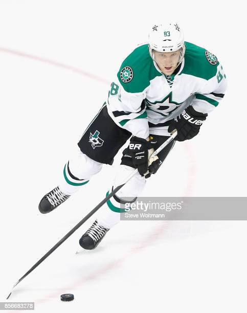 Ales Hemsky of the Dallas Stars plays in a game against the Chicago Blackhawks at the United Center on January 4 2015 in Chicago Illinois
