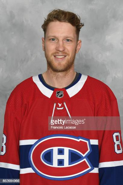 Ales Hemsky of the Montreal Canadiens poses for his official headshot for the 20172018 season on September 14 2017 at the Bell Sports Complex in...