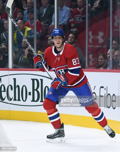 Ales Hemsky of the Montreal Canadiens skates against the Chicago Blackhawks in the NHL game at the Bell Centre on October 10 2017 in Montreal Quebec...