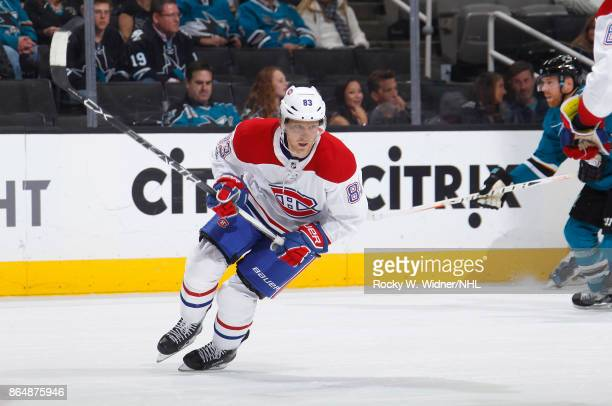 Ales Hemsky of the Montreal Canadiens skates against the San Jose Sharks at SAP Center on October 17 2017 in San Jose California