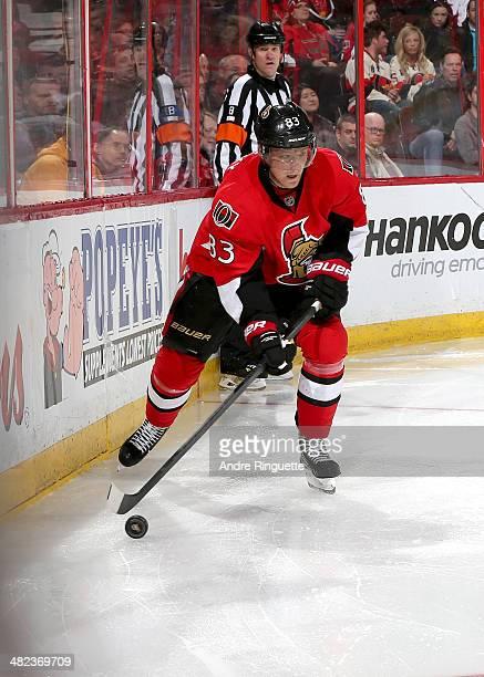 Ales Hemsky of the Ottawa Senators skates against the New York Islanders at Canadian Tire Centre on April 2 2014 in Ottawa Ontario Canada