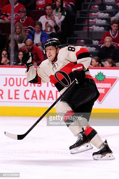 Ales Hemsky of the Ottawa Senators skates during the NHL game against the Montreal Canadiens at the Bell Centre on March 15 2014 in Montreal Quebec...