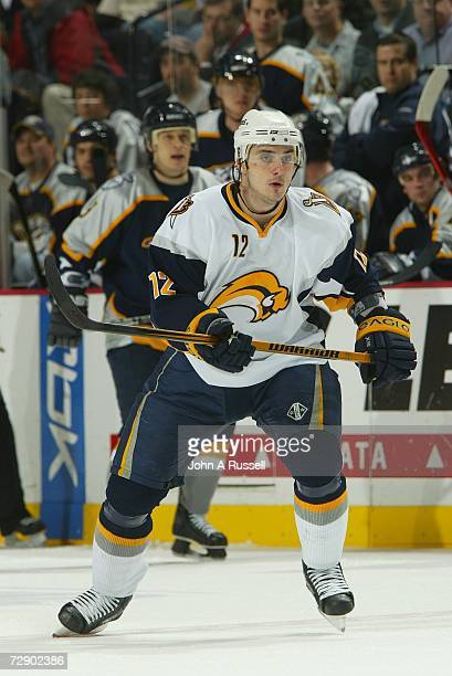 Ales Kotalik of the Buffalo Sabres skates against the Nashville Predators at Gaylord Entertainment Center on December 21, 2006 in Nashville,...