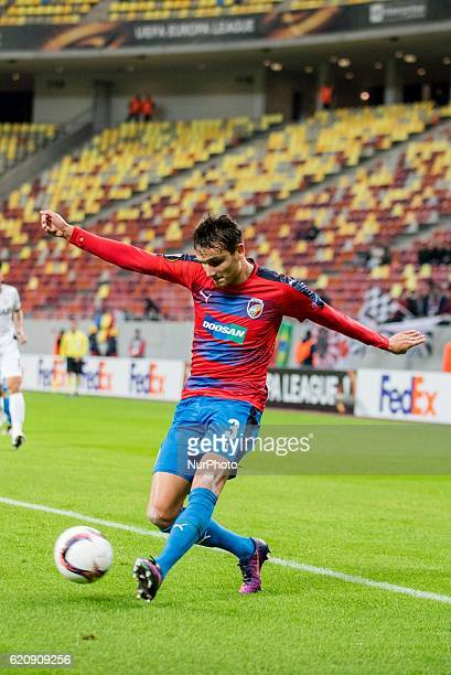 Ales Mateju of FC Viktoria Plzen during the UEFA Europa League 20162017 Group E game between FC Astra Giurgiu and FC Viktoria Plzen at National Arena...
