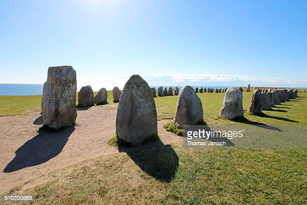 Ales stenar, a megalithic monument in Scania, South Sweden