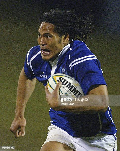 Alesana Tuilagi of Samoa in action during the rugby tour match between Samoa and NSW Country at WIN Stadium on June 8 2005 in Wollongong Australia