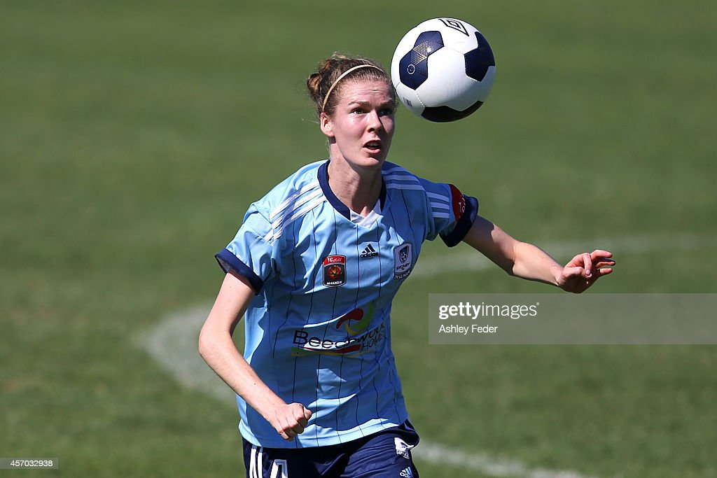 Alesha Clifford of Sydney FC controls the ball during the round five W-League match between the Newcastle Jets and Sydney FC at Magic Park on October 11, 2014 in Newcastle, Australia.