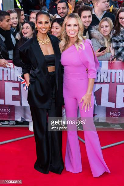 Alesha Dixon and Amanda Holden attend the Britain's Got Talent 2020 photocall at London Palladium on January 19 2020 in London England