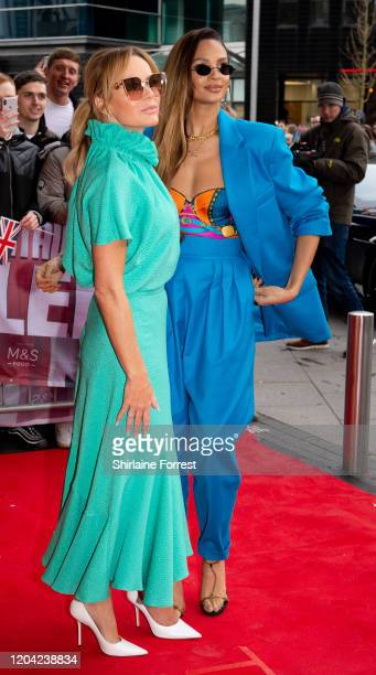 Alesha Dixon and Amanda Holden attend the Britain's Got Talent 2020 Manchester photocall at The Lowry on February 05 2020 in Manchester England