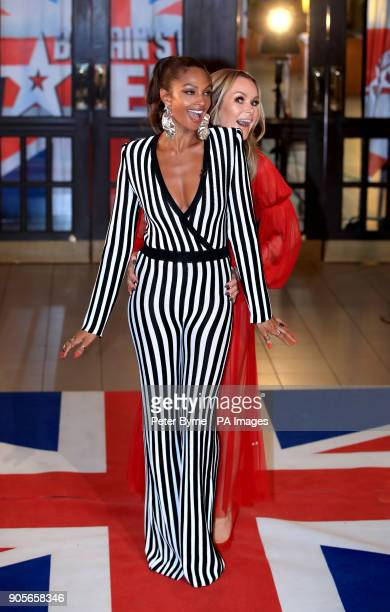 Alesha Dixon and Amanda Holden attending the Britain's Got Talent Photocall at the Opera House Church Street Blackpool