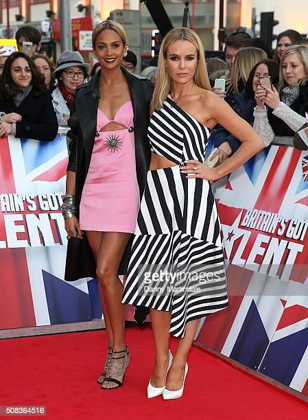 Alesha Dixon and Amanda Holden attends Britain's Got Talent Birmingham auditions on February 4 2016 in Birmingham England