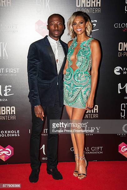 Alesha Dixon and Azuka Ononye attend Global Gift Gala Ibiza 2016 at Gran Melia Don Pepe Resort on July 19 2016 in Ibiza Spain