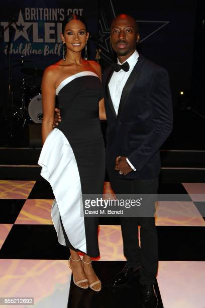 Alesha Dixon and Azuka Ononye attend the Britain's Got Talent Childline Ball at Old Billingsgate Market on September 28 2017 in London England