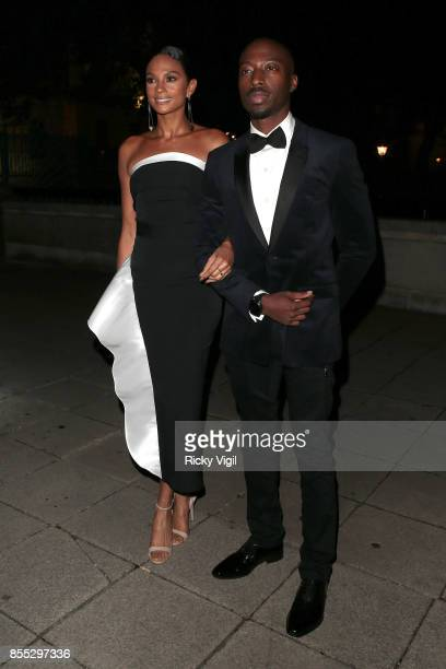 Alesha Dixon and Azuka Ononye seen attending The ChildLine Ball at Old Billingsgate on September 28 2017 in London England
