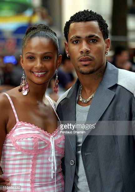 """Alesha Dixon and Harvey during """"I, ROBOT"""" London Premiere - Arrivals at Leicester Square Odeon in London, Great Britain."""