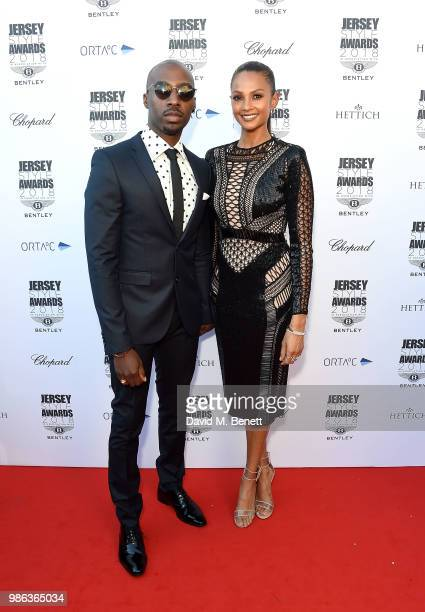 Alesha Dixon and husband Azuka Ononye attend the 2nd annual Jersey Style Awards in association with Bentley Motors Chopard and Ortac Aviation to...