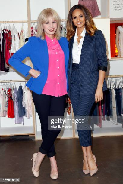 Alesha Dixon and Joanna Lumley attend a photocall to open the new Marks and Spencer Kids Shwop Boutique at Marks Spencer Marble Arch on March 6 2014...