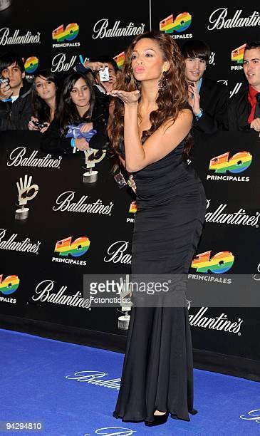 Alesha DIxon arrives at the ''40 Principales'' Awards at the Palacio de Deportes on December 11, 2009 in Madrid, Spain.