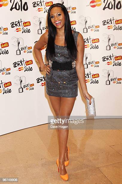 Alesha Dixon arrives at The Brit Awards 2010 held at Earls Court on February 16 2010 in London England