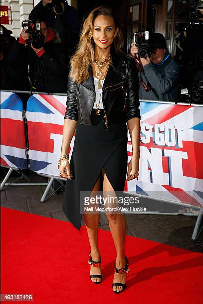 Alesha Dixon arrives at the Dominion Theatre for the Britain's Got Talent London auditions on February 11 2015 in London England