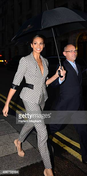Alesha Dixon arrives at the Grosvenor House Hotel for the pride of britain awards on October 6 2014 in London England