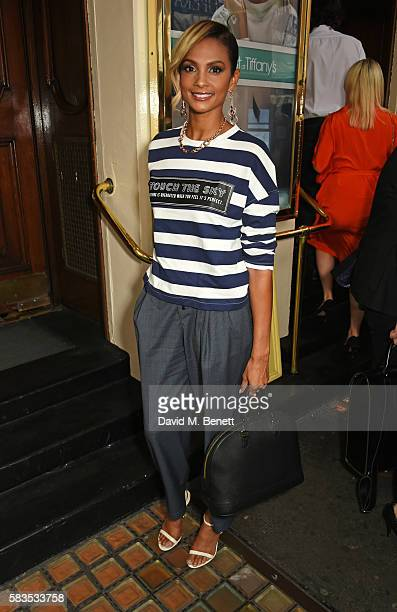 Alesha Dixon arrives at the press night performance of 'Breakfast at Tiffany's' at the Theatre Royal Haymarket on July 26 2016 in London England