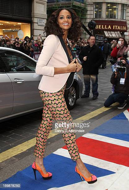 Alesha Dixon arrives for auditions for Britain's Got Talent at London Palladium on January 22 2013 in London England