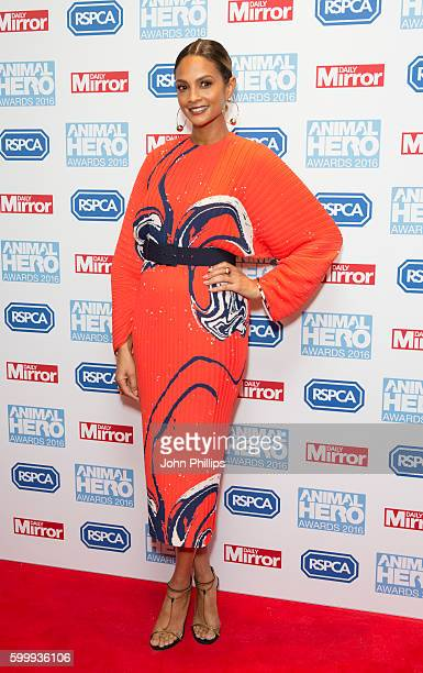 Alesha Dixon arrives for Daily Mirror and RSPCA Animal Hero Awards at Grosvenor House on September 7 2016 in London England