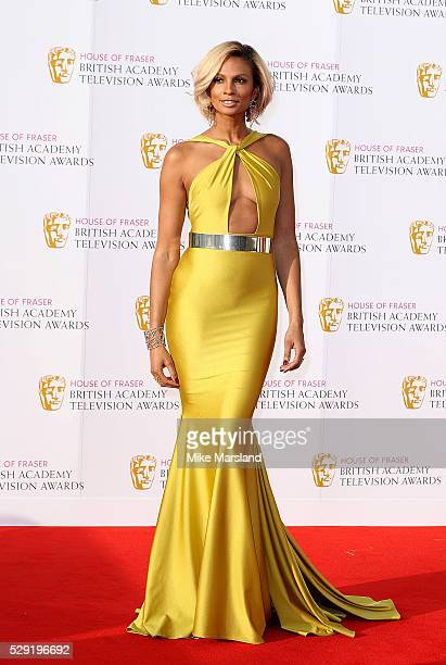 Alesha Dixon arrives for the House Of Fraser British Academy Television Awards 2016 at the Royal Festival Hall on May 8 2016 in London England