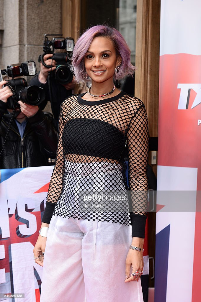 Alesha Dixon arrives for the launch of Britain's Got Talent at Regent Street Cinema on April 7, 2016 in London, England.