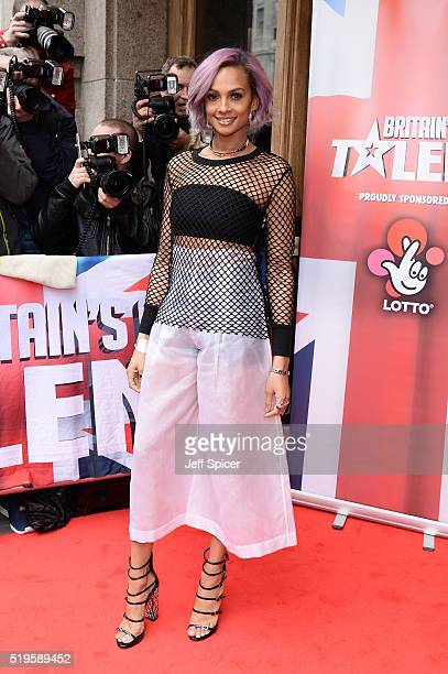 Alesha Dixon arrives for the launch of Britain's Got Talent at Regent Street Cinema on April 7 2016 in London England