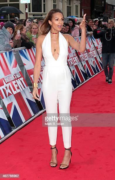Alesha Dixon arriving at the Birmingham Hippodrome theatre to film the Britains Got Talent auditions at Birmingham Hippodrome on February 5 2015 in...