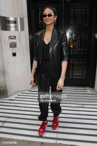 Alesha Dixon at BBC Radio 2 on March 06 2020 in London England