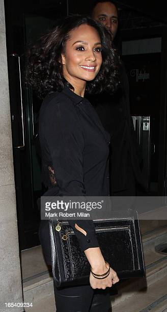 Alesha Dixon at the Kensington roof gardens on April 3, 2013 in London, England.