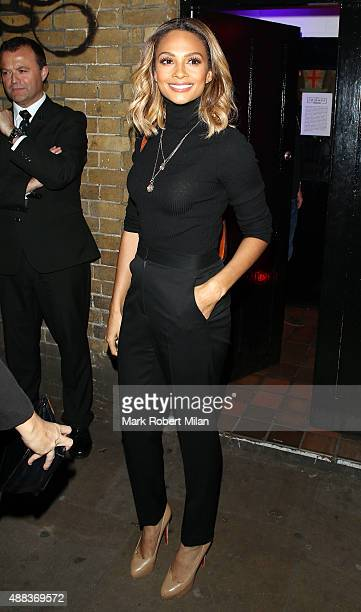 Alesha Dixon attending Comedy Central's FriendsFest launch at the Boiler House on September 15 2015 in London England