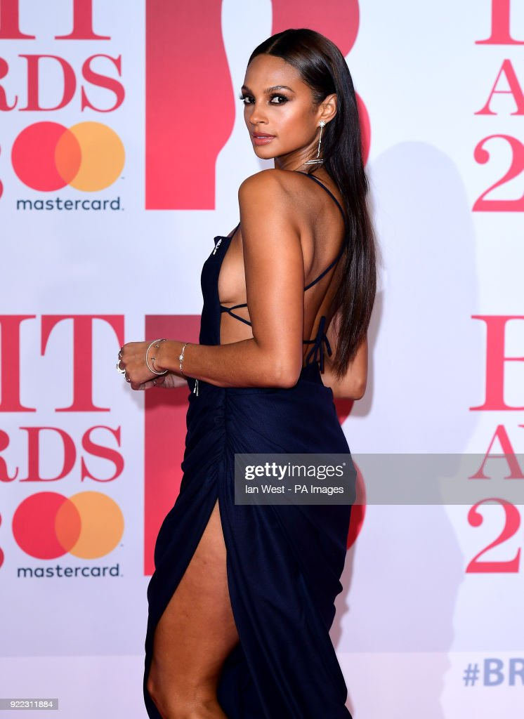Alesha Dixon attending the Brit Awards at the O2 Arena, London.
