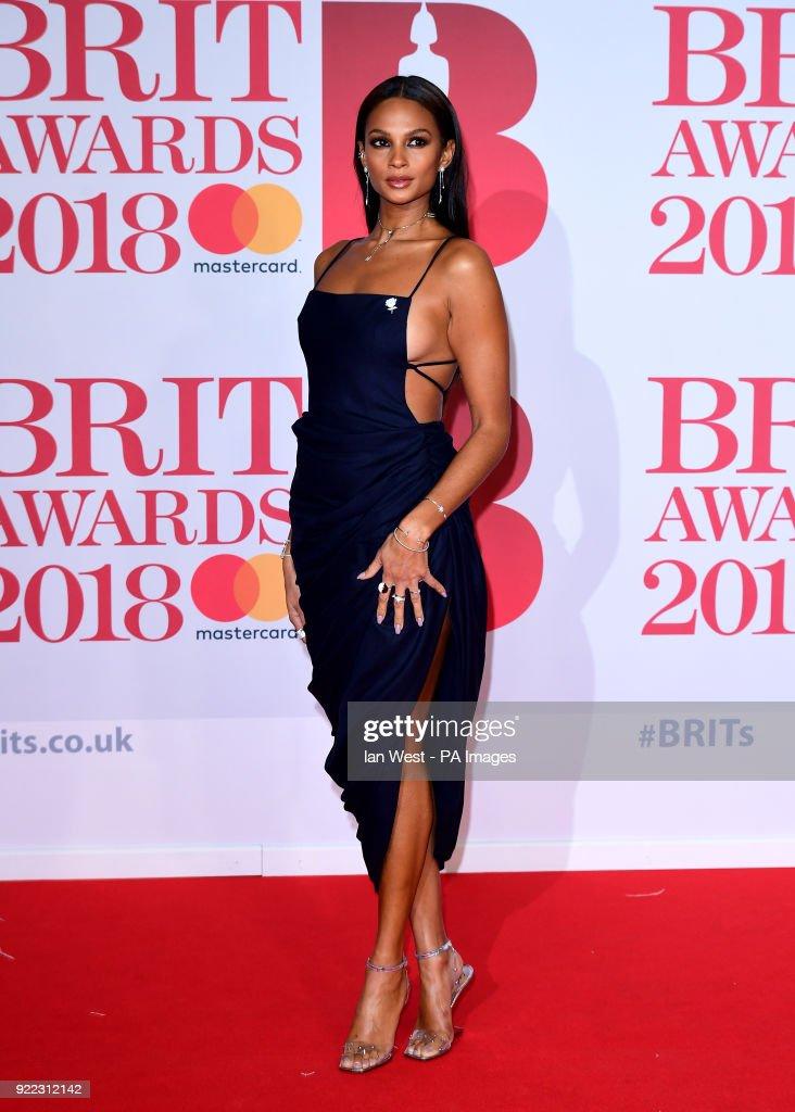 Alesha Dixon attending the Brit Awards at the O2 Arena, London.