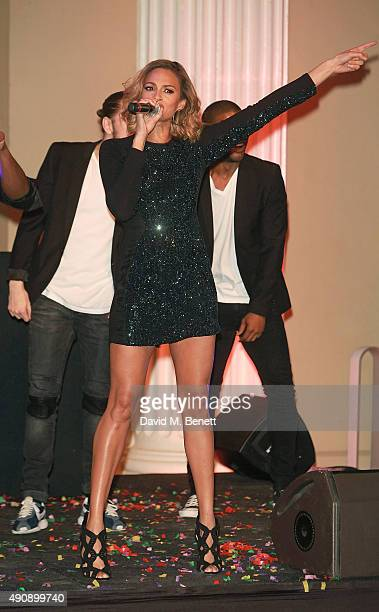Alesha Dixon attends a fundraising event in aid of the Nepal Youth Foundation hosted by David Walliams at Banqueting House on October 1 2015 in...