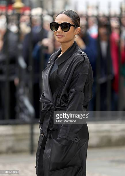 Alesha Dixon attends a memorial service for the late Sir Terry Wogan at Westminster Abbey on September 27 2016 in London England