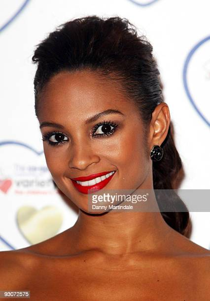 Alesha Dixon attends a photocall to launch the Variety Club's Gold Hearts appeal at The Grosvenor House Hotel on November 15, 2009 in London, England.