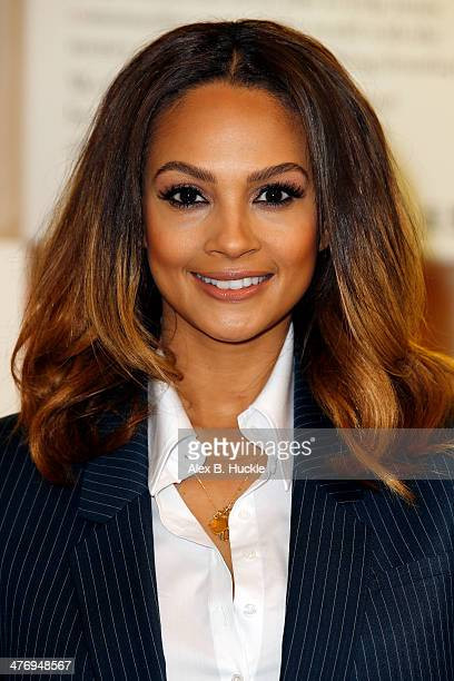 Alesha Dixon attends a photocall to open the new Marks and Spencer Kids Shwop Boutique at Marks Spencer Marble Arch on March 6 2014 in London England