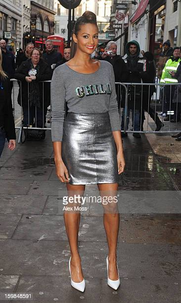 Alesha Dixon attends Britains Got Talent day 2 auditions on January 21 2013 in London England