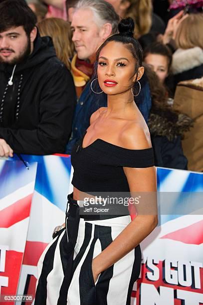 Alesha Dixon attends Britain's Got Talent London Auditions at London Palladium on January 29 2017 in London United Kingdom