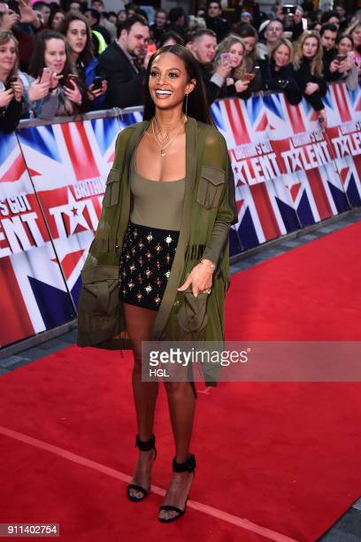 Alesha Dixon attends Britain's Got Talent London auditions at London Palladium on January 28 2018 in London England