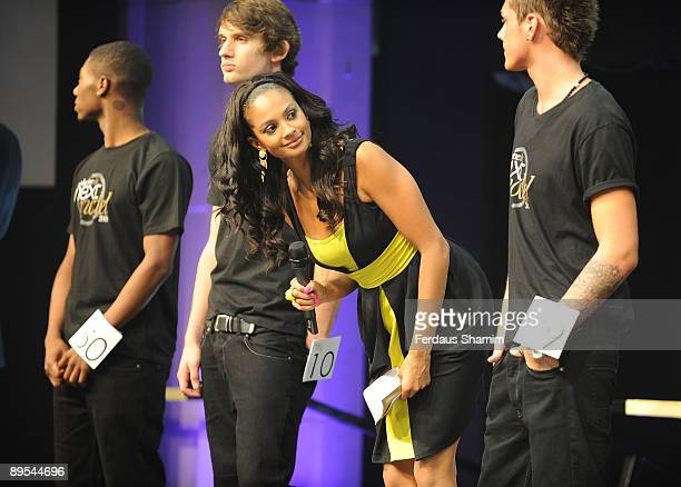 Alesha Dixon attends photocall for the final of Next Supermodel Search Final at Old Billingsgate Market on July 31 2009 in London England