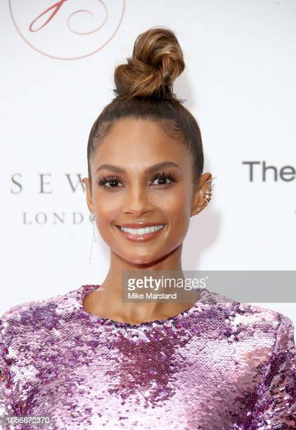 Alesha Dixon attends The 9th Annual Global Gift Gala held at The Rosewood Hotel on November 2, 2018 in London, England.