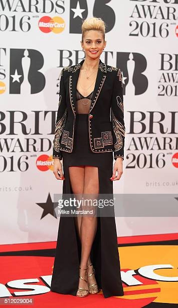 Alesha Dixon attends the BRIT Awards 2016 at The O2 Arena on February 24 2016 in London England