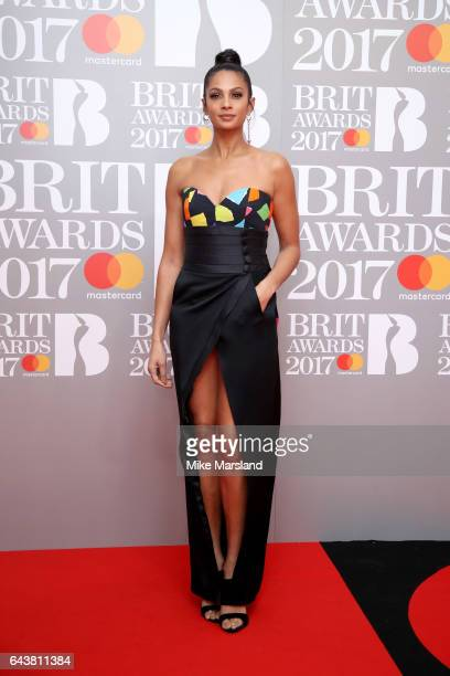 Alesha Dixon attends The BRIT Awards 2017 at The O2 Arena on February 22 2017 in London England